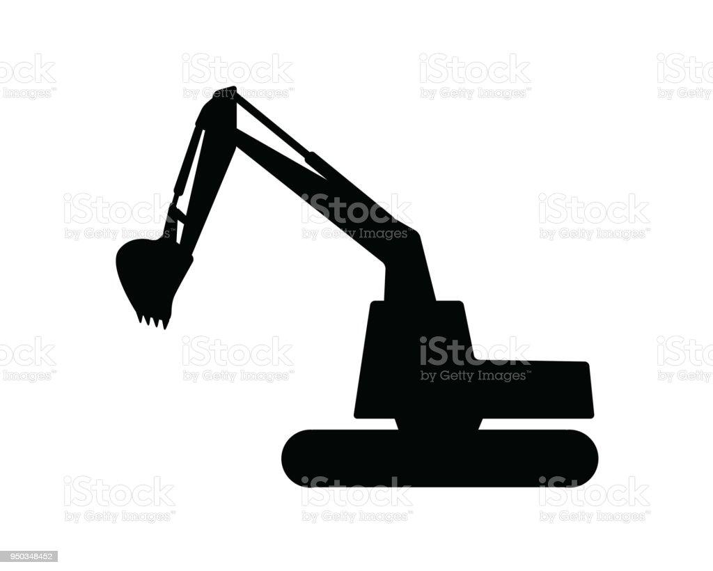 Bagger-Silhouette-Design-Darstellung, Silhouette-Style-design – Vektorgrafik