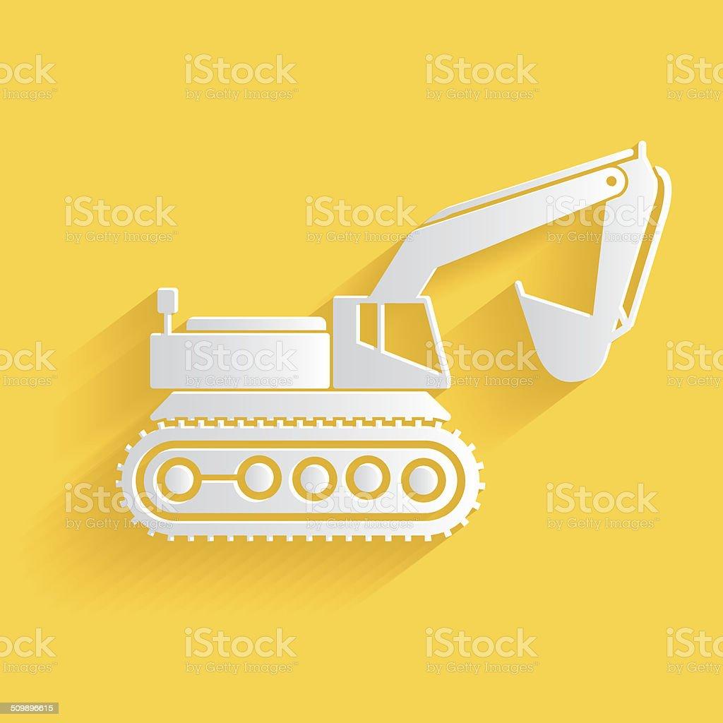Excavator symbol,clean vector vector art illustration