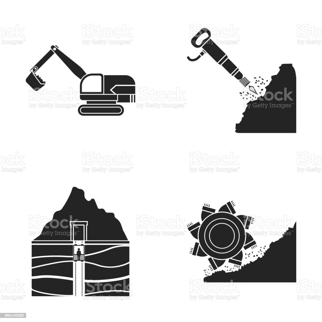 Excavator, tunnel, elevator, coal harvester and other equipment.Mine set collection icons in black style vector symbol stock illustration web. royalty-free excavator tunnel elevator coal harvester and other equipmentmine set collection icons in black style vector symbol stock illustration web stock vector art & more images of business