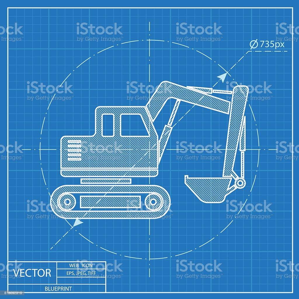 Excavator vector blueprint icon stock vector art 518092310 istock excavator vector blueprint icon royalty free stock vector art malvernweather Choice Image