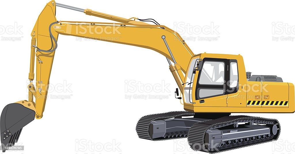 Excavator Stock Vector Art & More Images of Bucket ...