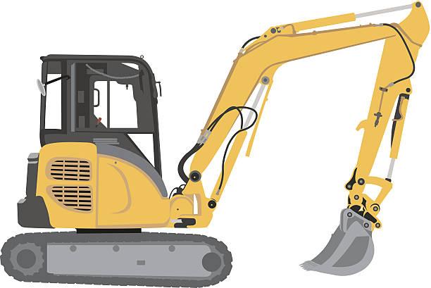 stockillustraties, clipart, cartoons en iconen met excavator - shovel