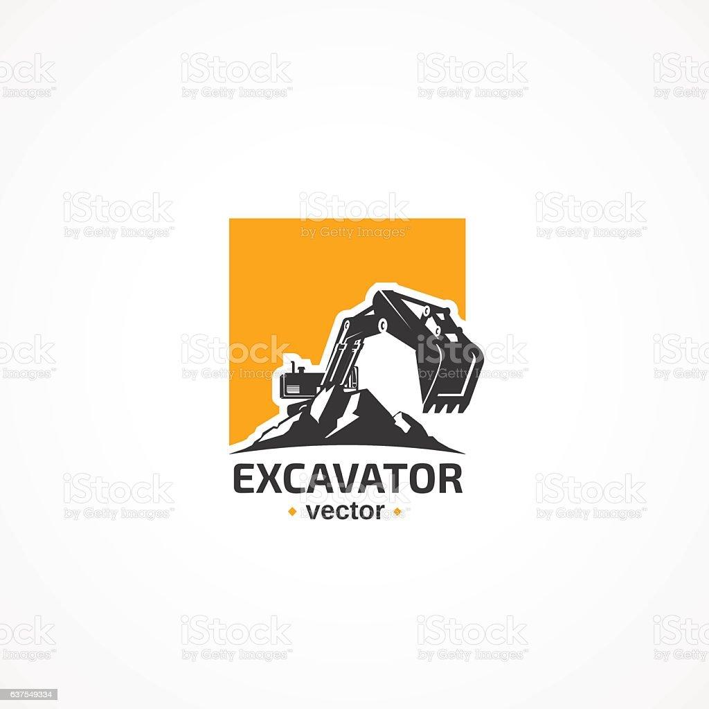 Excavator. – Vektorgrafik
