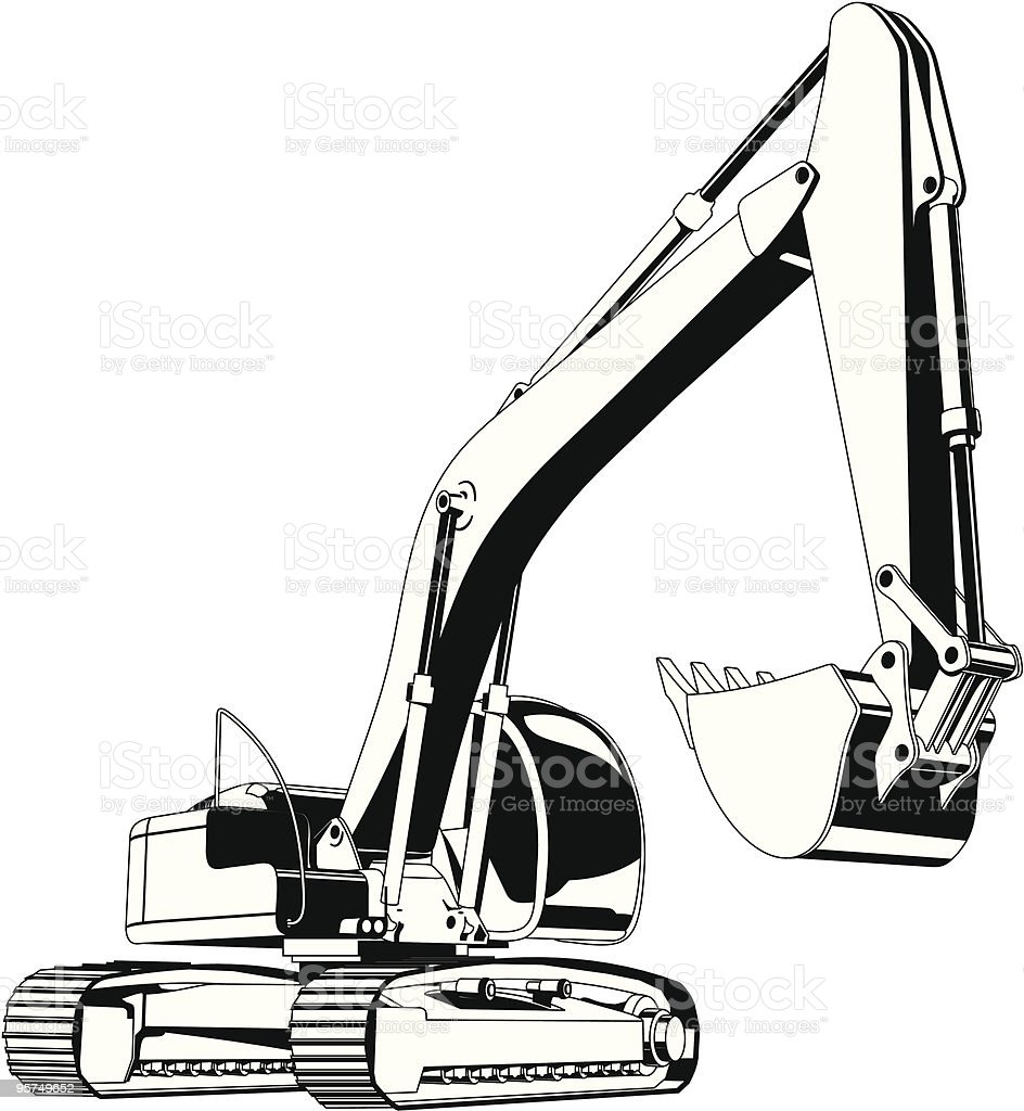 excavator stock vector art amp more images of art product