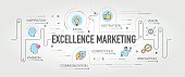 Excellence Marketing banner and icons