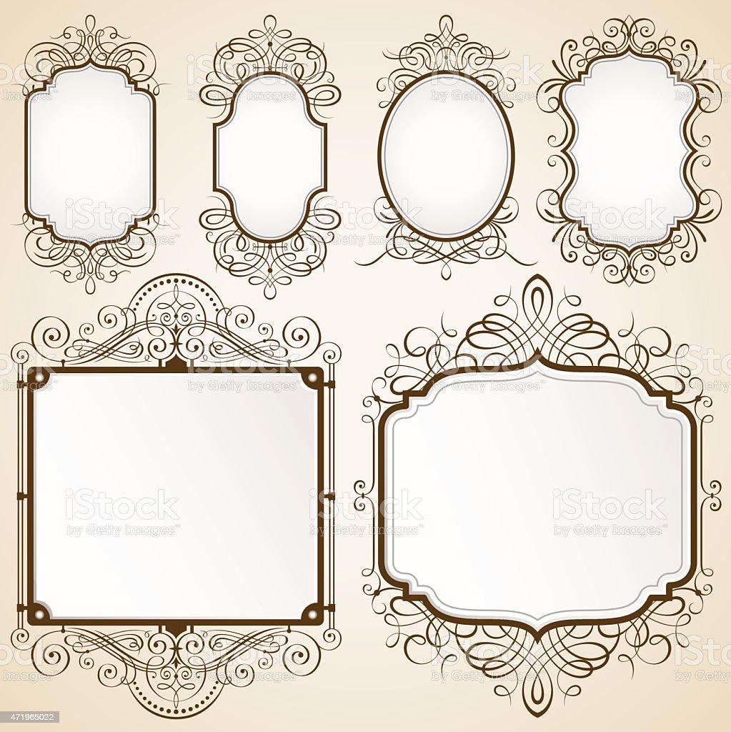 Excellent Decorative Frames vector art illustration