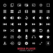 Excellent media player control icon set for designers in the design of all kinds of works. Beautiful and modern icon which can be used in many purposes Eps10 vector.