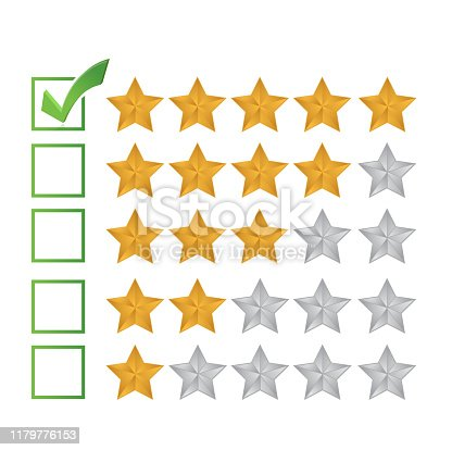 Excellent review rating illustration design over a white background