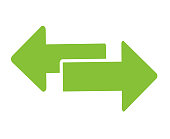 istock Exchange arrow transfer icon, logo. Vector isloated on white background 1200593178