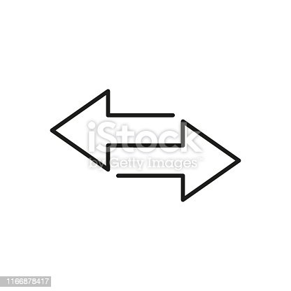 Exchange arrows icon isolated. Finance transfer element. Linear design. EPS 10