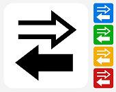 Exchange Icon Flat Graphic Design