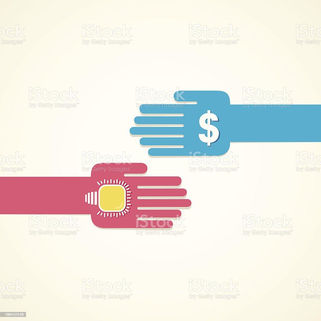 exchange idea royalty-free stock vector art