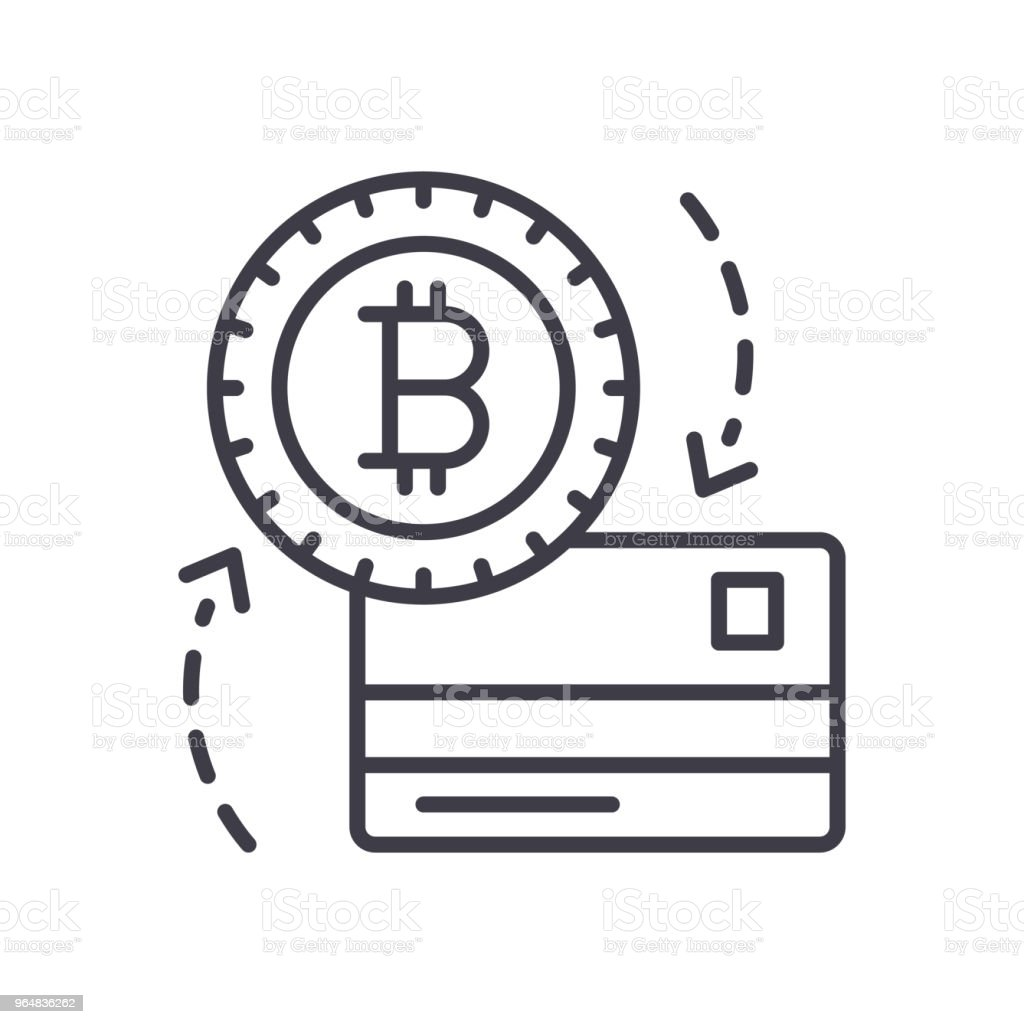 Exchange of bitcoin black icon concept. Exchange of bitcoin flat  vector symbol, sign, illustration. royalty-free exchange of bitcoin black icon concept exchange of bitcoin flat vector symbol sign illustration stock vector art & more images of bank