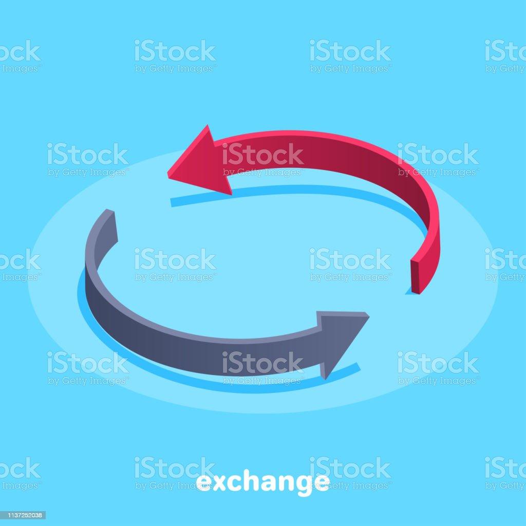 exchange vector art illustration