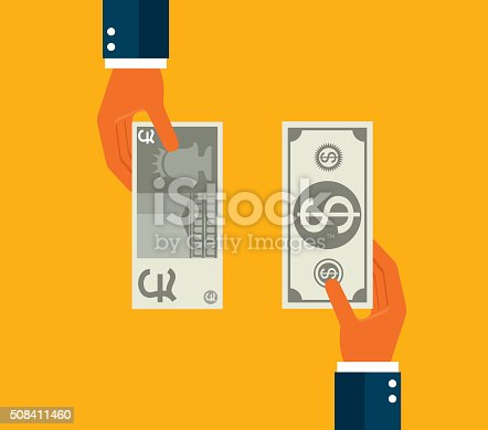 Exchanging dollar and Pound