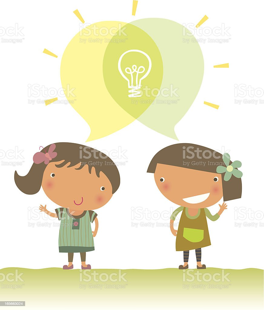 Exchanging Ideas royalty-free stock vector art