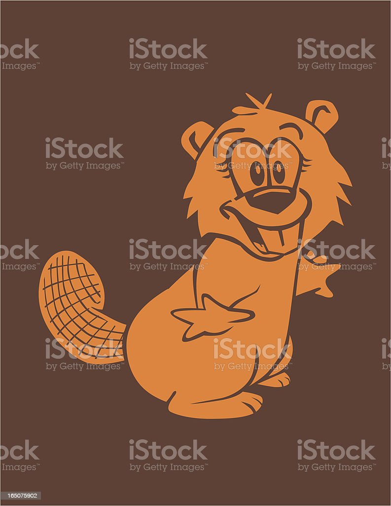 Excited Beaver vector art illustration