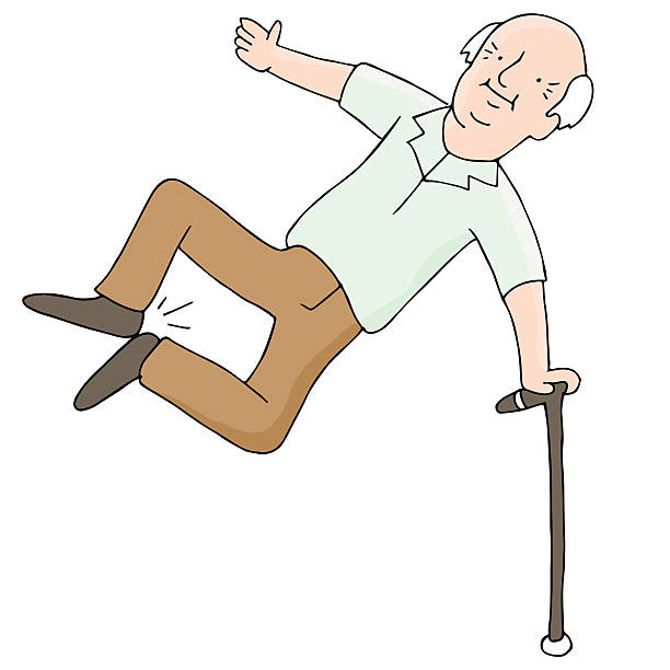 excited senior citizen - old man shoes stock illustrations, clip art, cartoons, & icons
