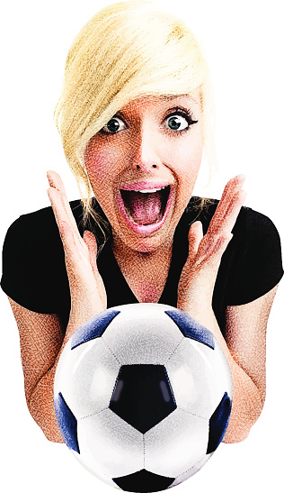 Excited Soccer Fan