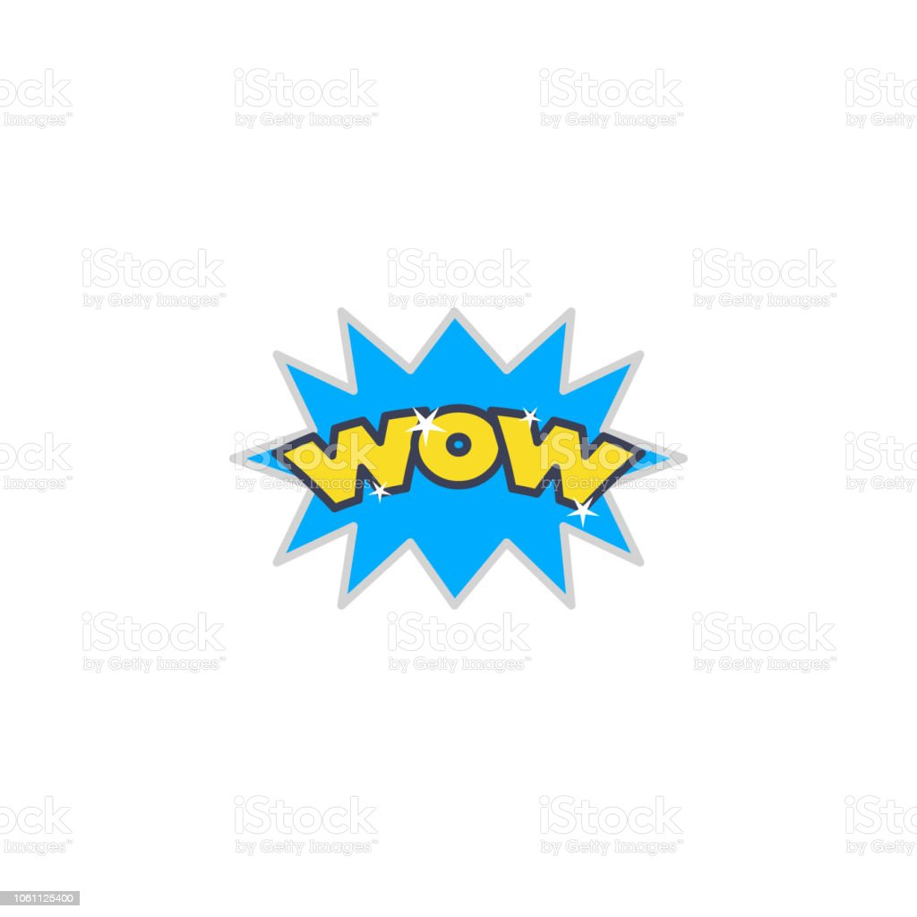 Excited Wow Sticker Icon Element Of Photo Stickers Icon For Mobile Concept  And Web Apps Sticker Excited Wow Icon Can Be Used For Web And Mobile Stock