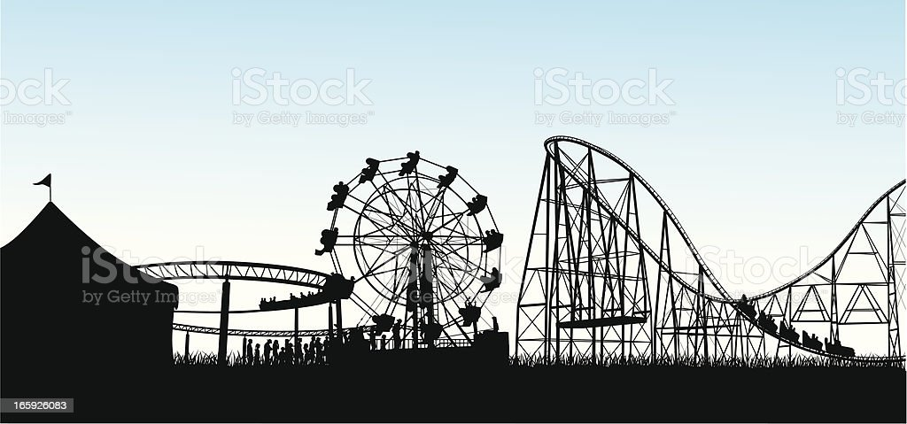 Excitement! Vector Silhouette royalty-free excitement vector silhouette stock vector art & more images of amusement park