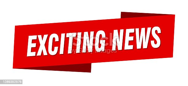 istock exciting news banner template. ribbon label sign. sticker 1289352576