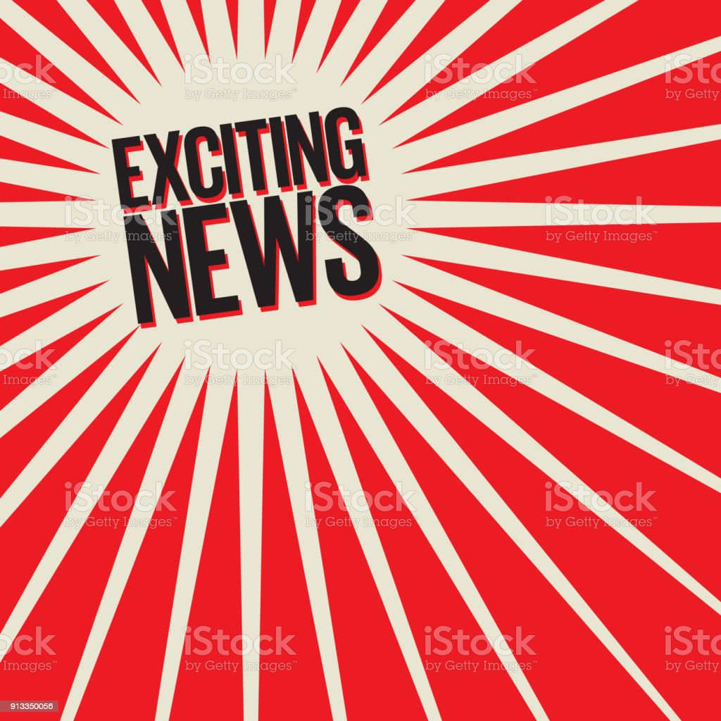 Exciting News Poster or Banner vector art illustration