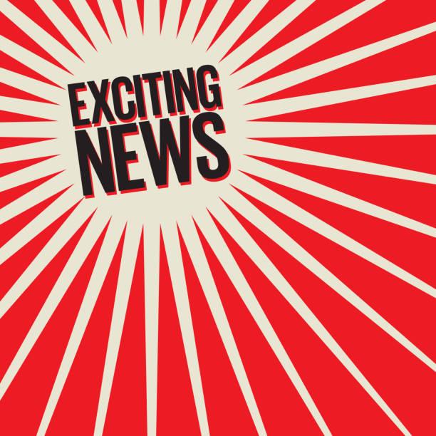 エキサイティングなニュース ポスターまたはバナー - ドキドキ点のイラスト素材/クリップアート素材/マンガ素材/アイコン素材