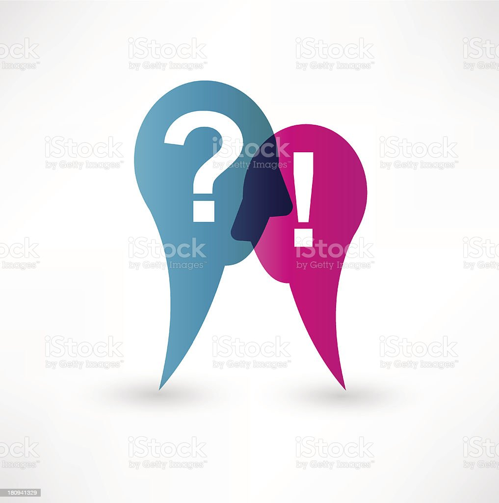 Exclamation and question mark icon royalty-free stock vector art