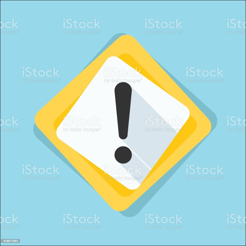 Exclamation Danger sign illustration vector art illustration