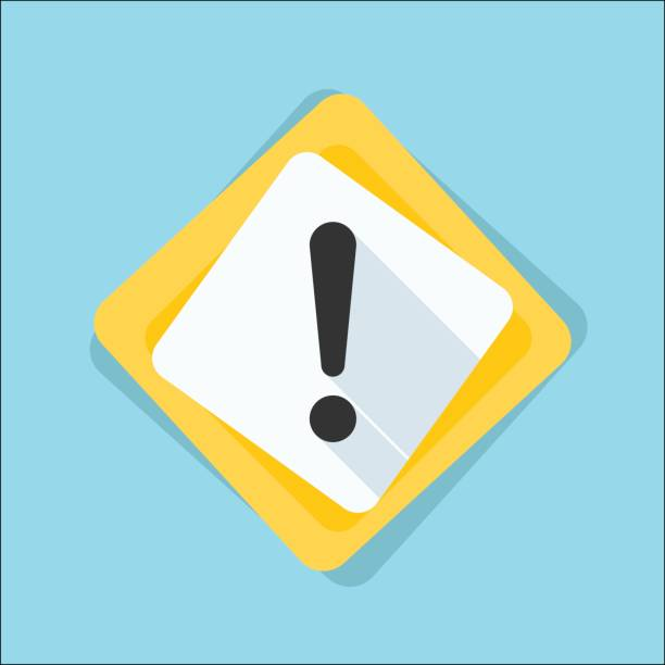 exclamation danger sign illustration - attention stock illustrations, clip art, cartoons, & icons