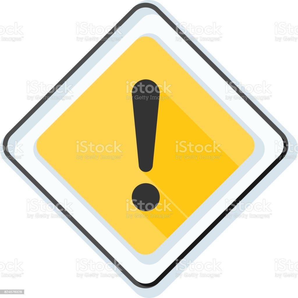 Exclamation Danger sign illustration vector art illustration