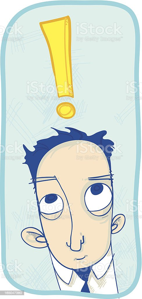 Exclamation Man royalty-free stock vector art