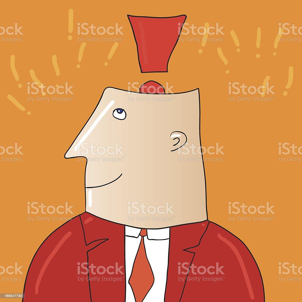 Exclamation man vector art illustration