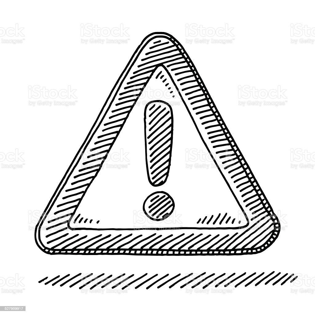 Dessin Panneau Attention mark attention signe dexclamation dessin – cliparts vectoriels et