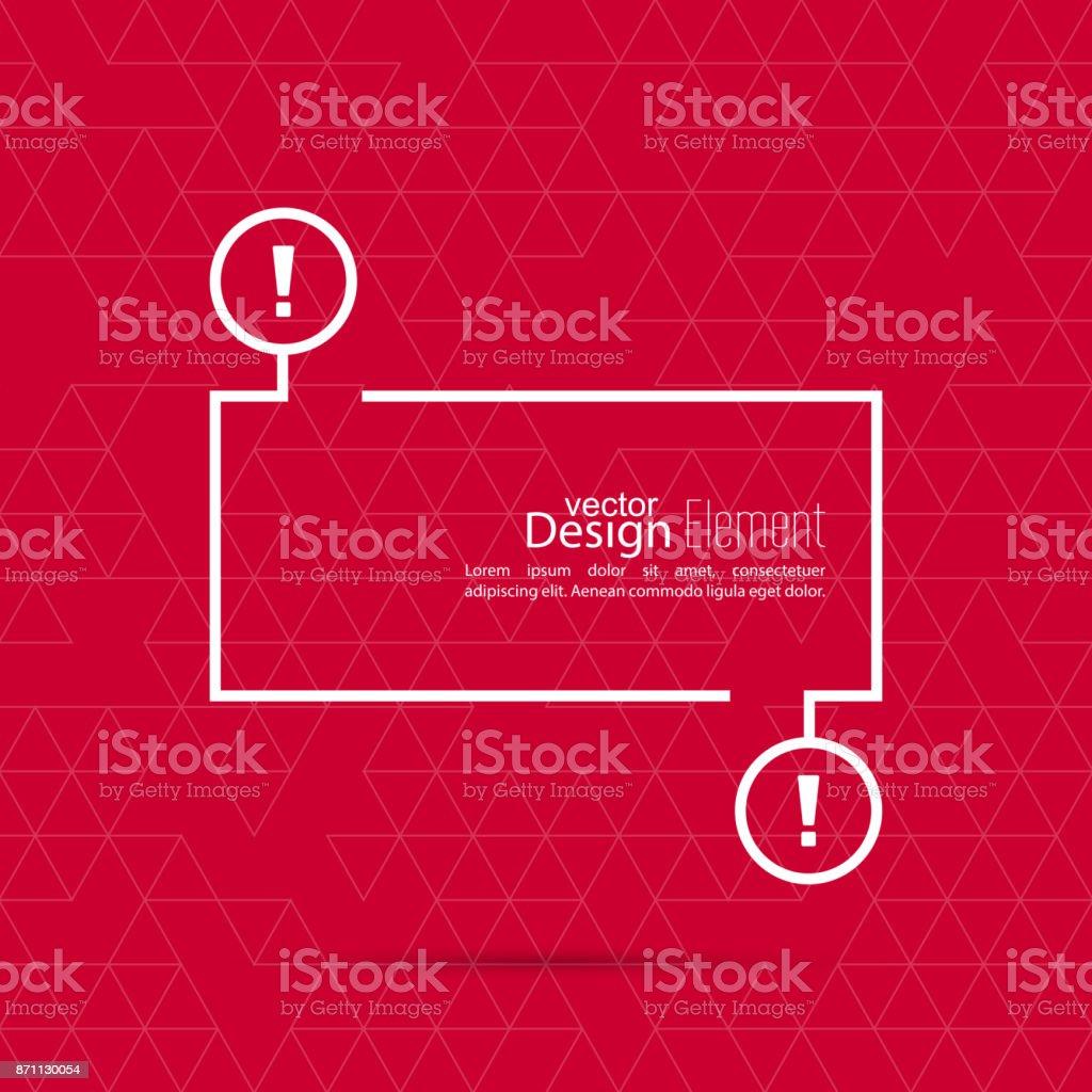 Exclamation mark blank template. vector art illustration