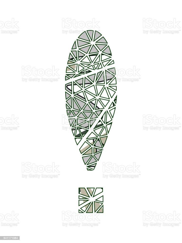 ünlem Işareti çiçek Tasarım Stok Vektör Sanatı Beyaznin Daha