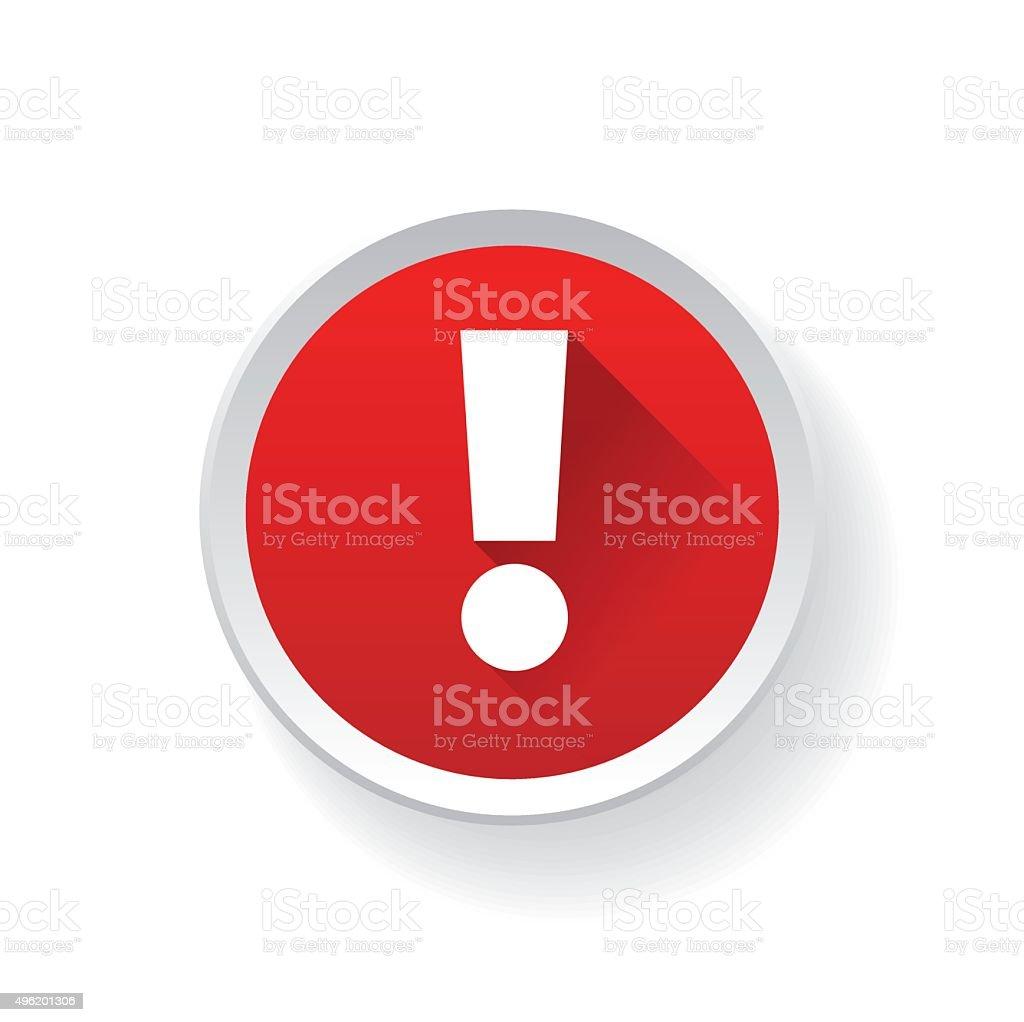 Exclamation mark. Hazard warning symbol. vector art illustration