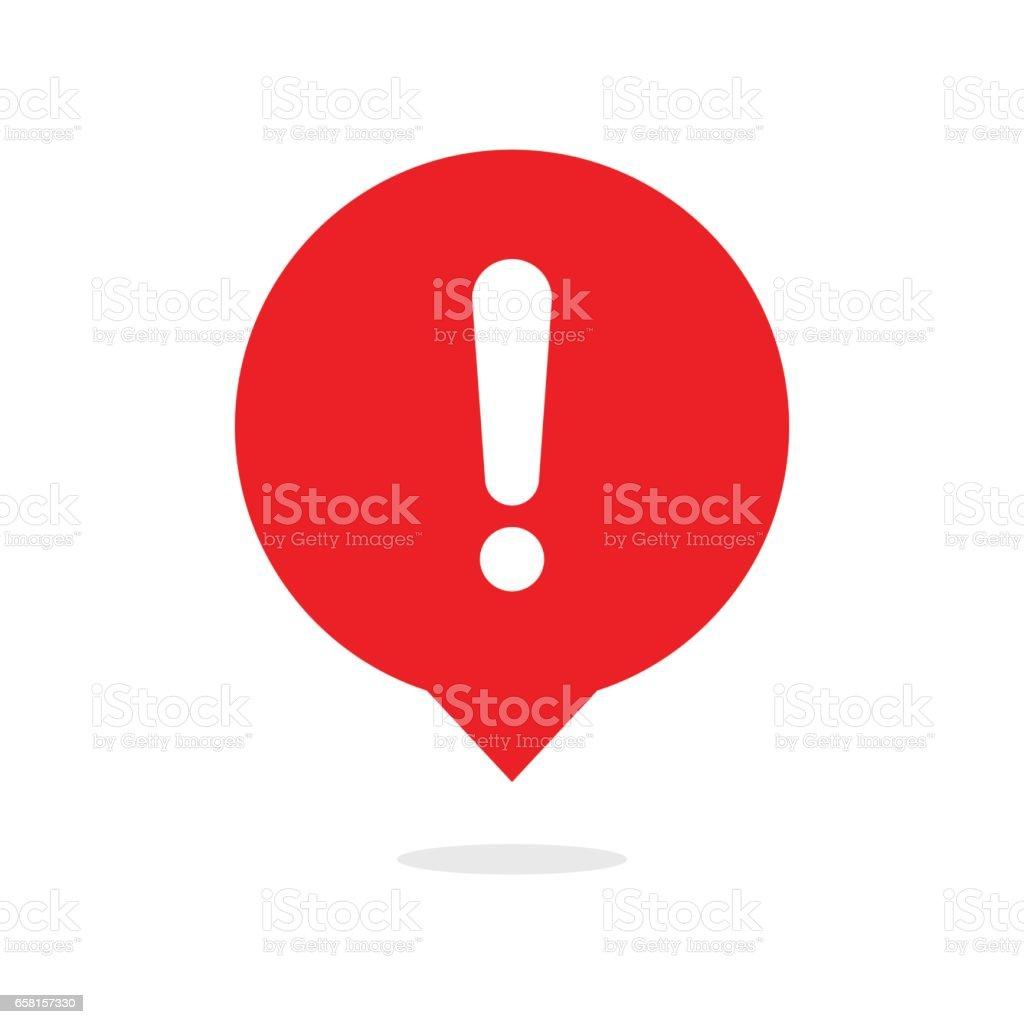 Ausrufezeichen-Symbol Blase – Vektorgrafik