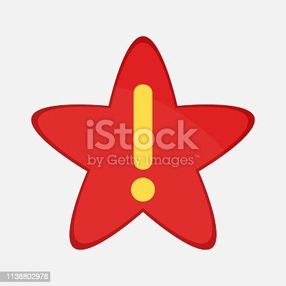 istock Exclamation mark icon 1138802978