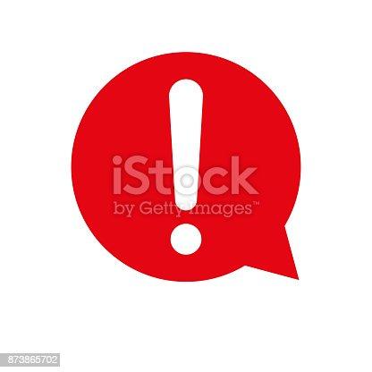 Exclamation mark vector icon