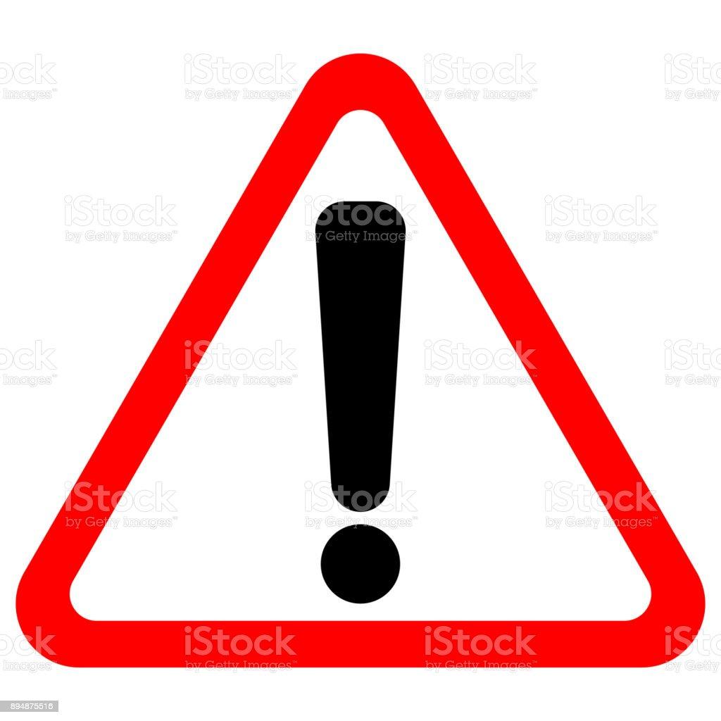 Point d'exclamation signer en triangle rouge. Icône de vecteur - clipart vectoriel de Accident et désastre libre de droits