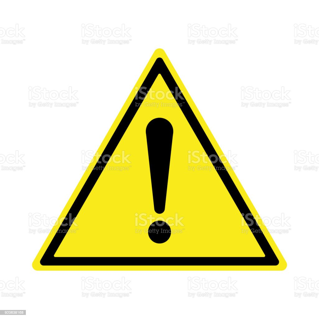Exclamation sign, Danger Warning, Isolated, Caution icon Warning symbol, - Illustration...