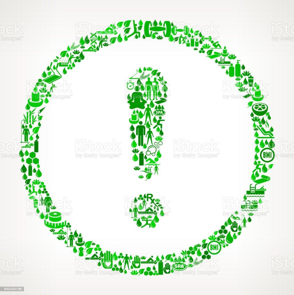 Wellness icon  Ausrufezeichen Zeichen Gesundheit Und Wellness Icon Set ...