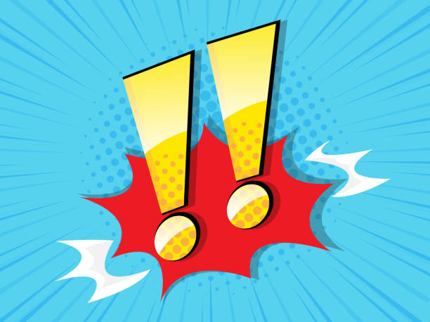 exclamation sign with comic book, pop art vector art illustration