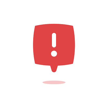 Exclamation vector icon attention logo warning speech bubble important round mark,vector illustartion. EPS 10.