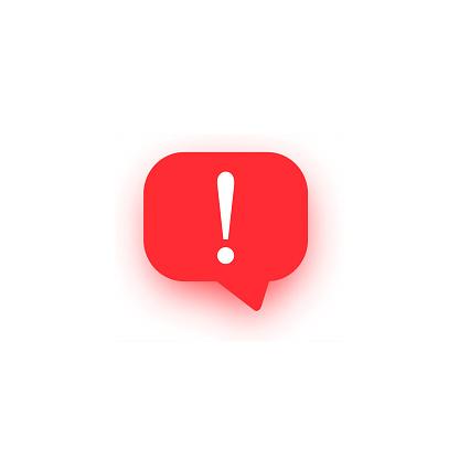 Icône De Vecteur Dexclamation Marque Importante Logo Dattention Bulle  Davertissement De Discours Signe Rouge Darrêt Illustration Avec Lombre  Disolement Sur Le Blanc Vecteurs libres de droits et plus d'images  vectorielles de Alarme -