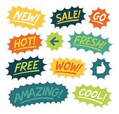 istock Exclamations and Cartoon Explosive Statements 477890700