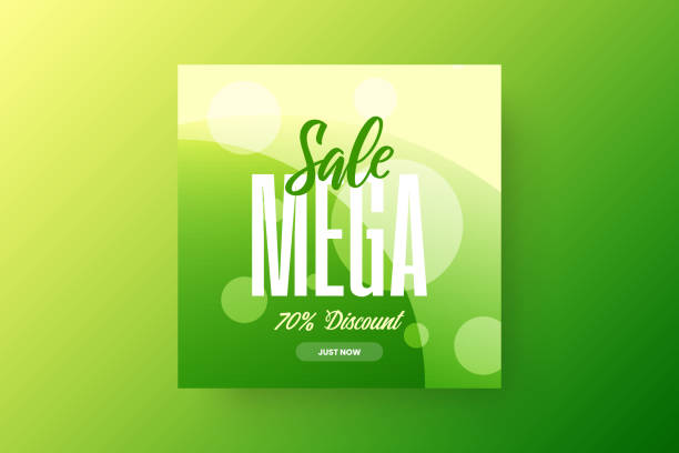 Exclusive abstract mega sale vector banner template. vector art illustration