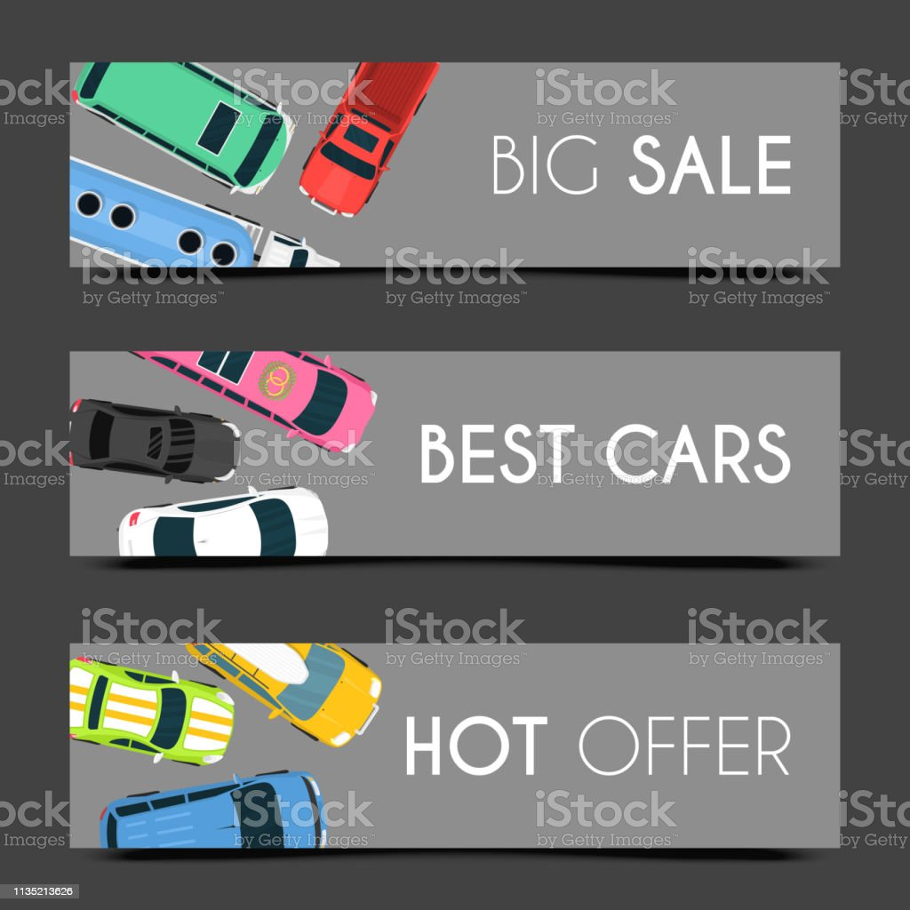 Exclusive car care set of banners vector illustration. Car service....